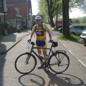 Rene Kievit met fiets